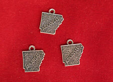 """10pc """"Arkansas"""" charms in antique silver (BC887)"""