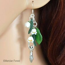 Lily of The Valley Goddess Earrings - Pagan, Wicca, Spring, Ostara, Equinox