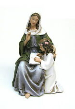 Statue St. Anne 4.5 inch Painted Resin Joseph Studio Patron Saint Catholic Home