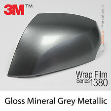 10x20cm FILM Gloss Mineral Grey Metallic 3M 1380 G281 New Series Car Wrap Vinyle
