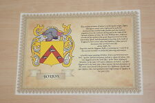 Family coat of arms & Family name meaning A4 Cream Laid Watermarked 100gms