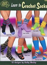 Learn to Crochet Socks Crochet Pattern Book - 12 Designs