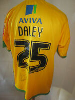 Norwich Daley Signed Match Worn Home 2008-2010 Football Shirt with COA /9730