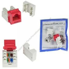 Lot100 Cat5e RJ45 Keystone Network/Ethernet 10/100/1000 Jack/Port Punch Down{Red
