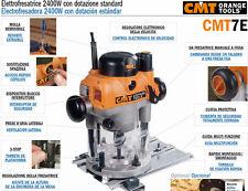 Elettrofresatrice 2400W con dotazione standard CMT7E