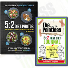 Low-Calorie Recipes Collection 5:2 Diet Photos, 5:2 Fast Diet Journal 2 Book Set