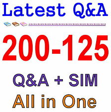 Cisco Best Exam Practice Material for 200-125 Exam Q&A PDF+SIM