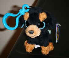 Ty Beanie Boos Key Clip ~ TUFFY the Rottweiler Dog ~ MINT with MINT TAGS ~ RARE