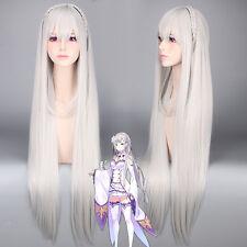 Re:Zero kara Hajimeru Isekai Seikatsu Emilia Long Styled Cosplay Wig 100cm