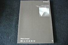 Manual for YAMAHA Tyros 2 Keyboard Original Language french - french