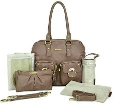Timi & Leslie Faux Leather Baby Diaper Bag Rachel Taupe NEW TL-221-01TP