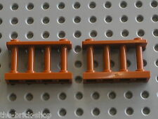2 x Barriere  LEGO DkOrange fence ref 30055 / set 7418  Scorpion Palace
