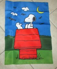 Snoopy and Woodstock Halloween Small Garden Flag Woodstock as Ghost CUTE!