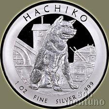 HACHIKO Japanese Akita Dog Tokyo 1oz Silver Proof Dollar Coin BOX+COA 2016 Niue