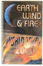 Earth Wind & Fire World Tour 2001 United States Itinerary Book