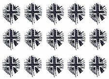 5 New Sets Harrows Dimplex Standard Dart Flights - Mono Union Jack - 15 Flights