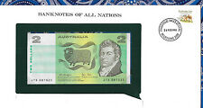 *Banknotes of All Nations Australia 2 Dollars 1979 P43c UNC Knight/Stone JTS