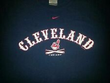 Cleveland Indians Nike Baseball Sports Apparel Tshirt Clothing Large Navy Blue