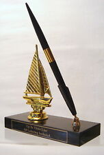 METAL  SAILBOATPEN SET TROPHY BOAT SAILBOAT TROPHY TROPHIES TOP TOPPER PARTS