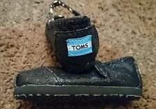 Tiny Toms mary janes black metallic new 5 uk infant ORIGINAL baby girl shoes