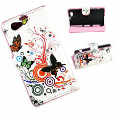 Butteryfly Leather Wallet Phone Stand Case Cover For Sony Xperia Z1 Compact Mini