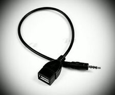 AUX Audio Plug Jack To USB 2.0 Female Converter Cable Cord Car MP3 3.5mm