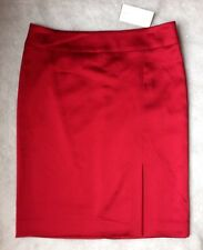 New CACHE Size: 2 Red Satin Women's Skirt. ЮБКА