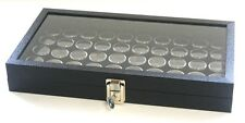 Key Locking Glass Top 50 State Quarter Coin Collectors Showcase Display Case Box