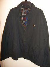NWT Mens Large Polo Ralph Lauren Black Windbreaker Jacket New $165