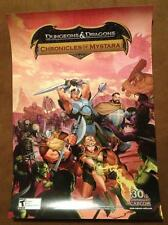DUNGEONS & DRAGONS CHRONICLES OF MYSTARA POSTER Original Promo Poster SDCC MINT