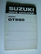 parts catalogue SUZUKI  : GT 550 de janvier 1975