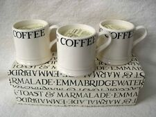 3 EMMA BRIDGEWATER BLACK TOAST ESPRESSO CANDLE MUGS DISCONTINUED COLLECTABLE NEW
