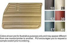 68 Concours & Malibu 4 Door Sedan/Hardtop/Wagon Black Front Door Panels - PUI