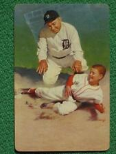 Ty Cobb Vintage Baseball Swap Card Bill Medcalf Art Brown & Bigelow 1953 MINT A+