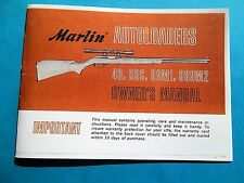 MARLIN MODEL 49, 99C, 99M1, 989M2 SEMI-AUTO OWNERS INSTRUCTION MANUAL 15 pages