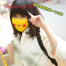 Anime Pikachu Smile Face Master Cosplay Anti-Dust Winter Face Mask Respirator