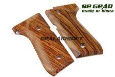 SE GEAR Airsoft Oak Wood Pistol Grip Cover For Beretta 92F GBB SE-WD0002