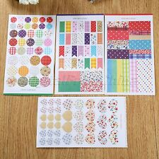 4 Sheets Vintage Round Dot Paper Stickers Diary Book Scrapbook Planner Label DIY