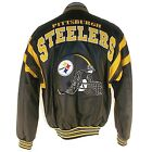 NFL STEELERS PITTSBURGH LEATHER BOMBER JACKET L32540