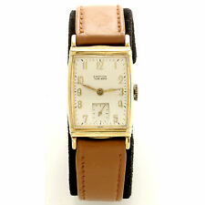 Croton (Swiss) 17-Jewel Yellow Gold-Filled Man's Wrist Watch