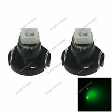 2x Green Neo Wedge 1 SMD 1210 LED Car Bulbs T3 HVAC Climate Control Lights N001