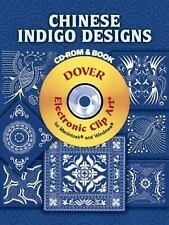 Chinese Indigo Designs CD-ROM and Book Dover Electronic Clip Art