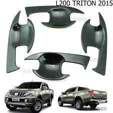4 Black Kevlar Bowl Insert Housing Cover For Mitsubishi Triton L200 MQ 2015 2016