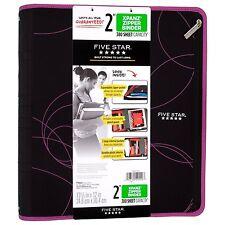 "Five Star Xpanz 2"" Zipper Binder Pink 380 Sheet Capacity Removable Pencil Pouch"
