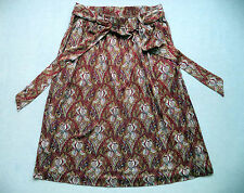 Womens LL BEAN fashion silk skirt Sz M classy office dress luau sexy smokin hot