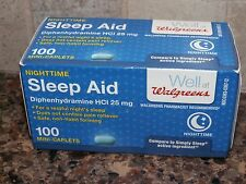 Walgreens Nighttime Sleep Aid 100 Mini-Caplets, Sealed, New!