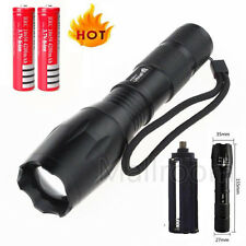 UltraFire Cree T6 High Power LED Taschenlampen Flash-light Fokus Zoom+2x Akku