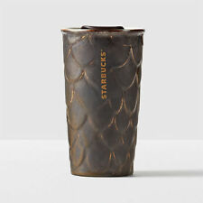 STARBUCKS ANNIVERSARY Ceramic Mug Traveler Tumbler Mermaid Siren Scales 10 fl oz