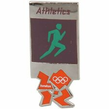 2012 London Olympics official pictogram ATHLETICS Track & Field pin badge-mint!