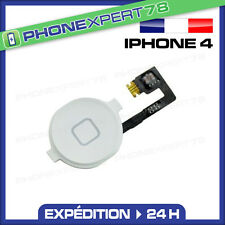 NAPPE + BOUTON HOME POUR IPHONE 4 BLANC
